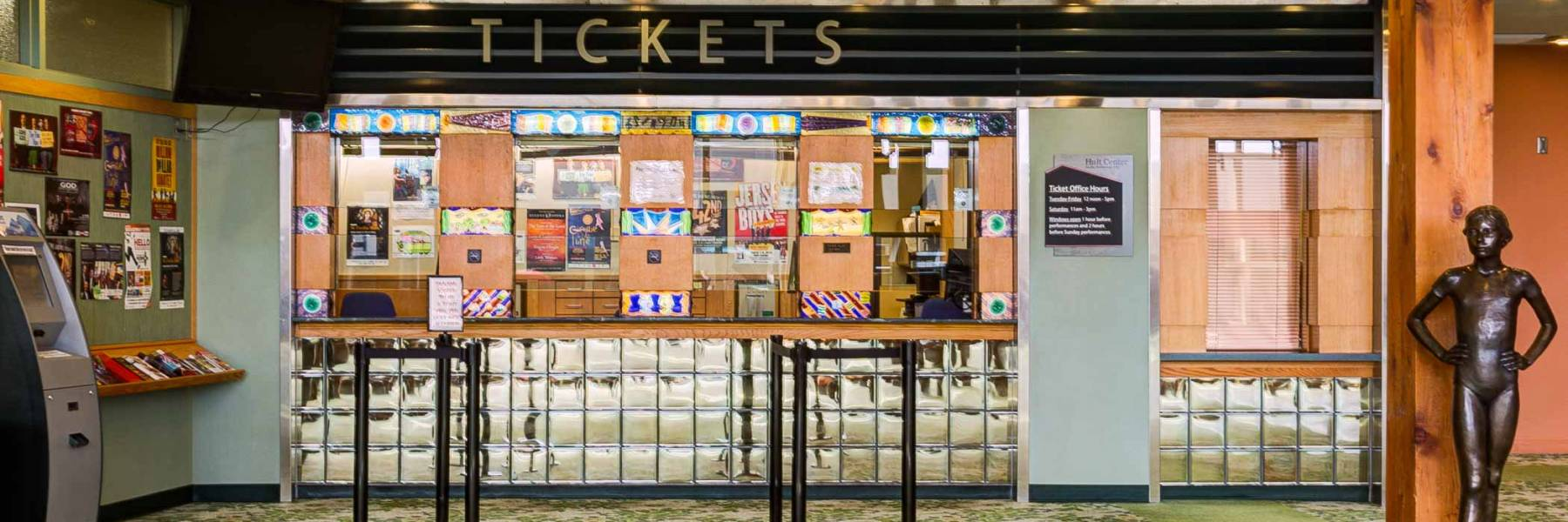 View of the Hult Center Ticket Office Window